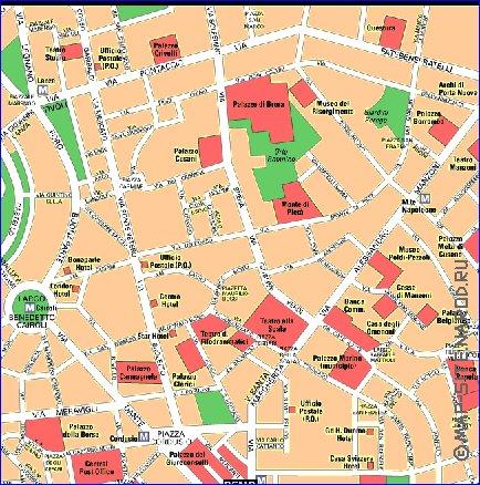 Interactive carte de Milan